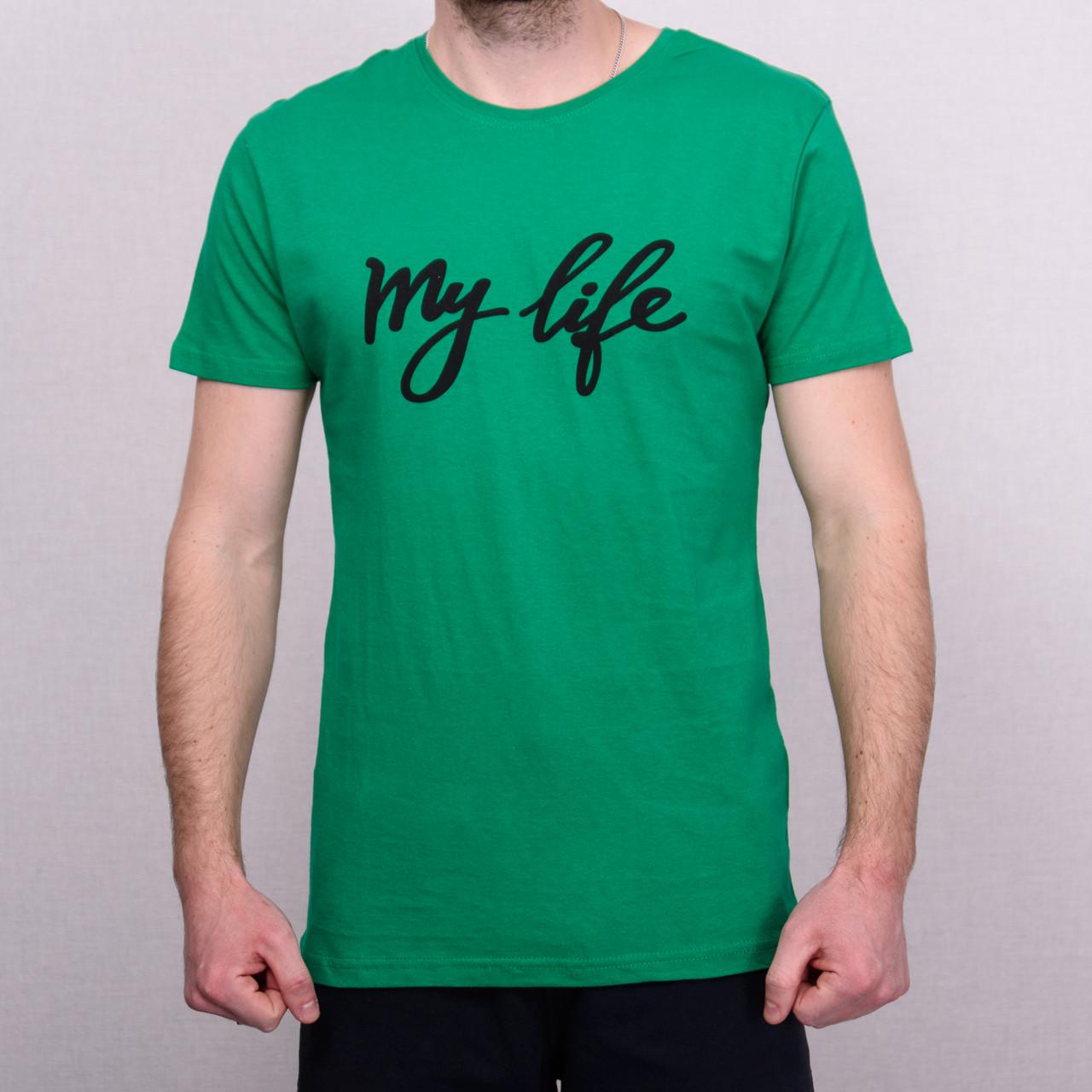Чоловіча футболка зеленого кольору