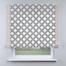 Римская фото штора геометрия с кантом бежевым