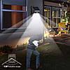Навесной фонарь с датчиком движения.Уличный свет. Фонарь с солнечной панелью. 30 диодов, фото 4