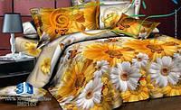 3D Полуторное постельное белье Amika ромашки