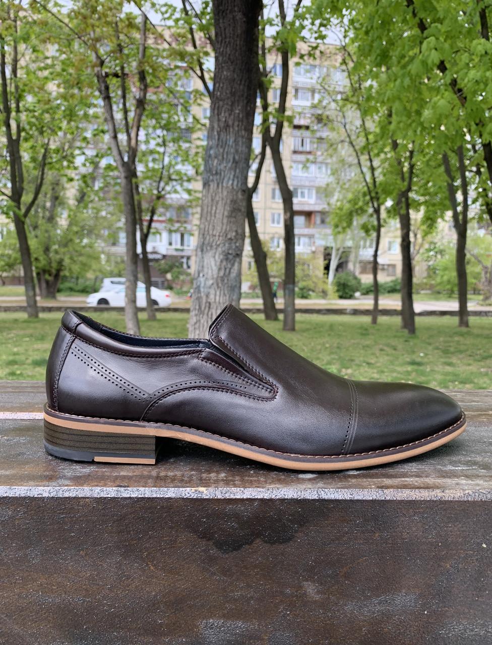 Мужские туфли лоферы JaCkers Италия натуральная кожа 40