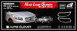Хром накладки на фары, окантовка фар Hyundai Santa Fe 2006-2012 (Autoclover A361), фото 2