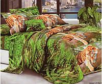 3D Полуторное постельное белье Modatex тигры на деревьях