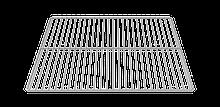 Решетка из хромированной стали 600х400мм Unox (Италия)