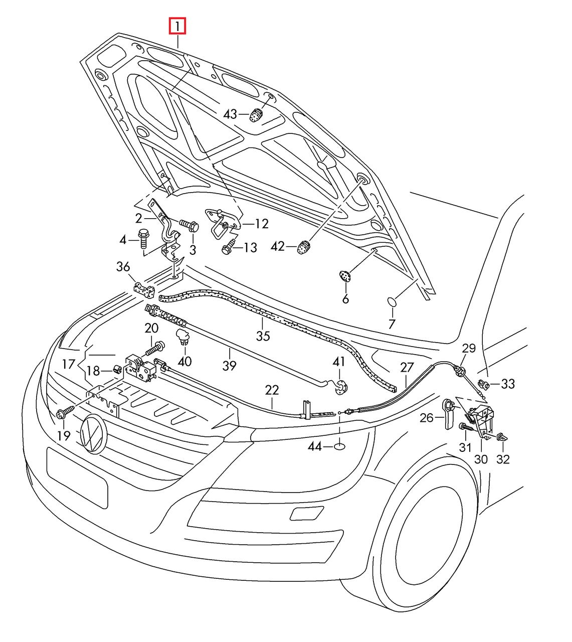Капот с герметиком VW Passat B7 USA 2011-2015     561823031E