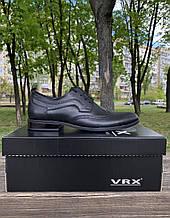 Мужские туфли броги VRX натуральная кожа 40