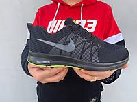 Черно мужские летние кроссовки сетка Nike Zoom в стиле Найк, фото 1