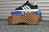 Мужские кроссовки Adidas Iniki Deep Blue (Адидас Иники тёмно-синие), фото 3