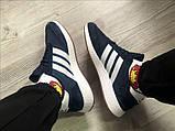 Мужские кроссовки Adidas Iniki Deep Blue (Адидас Иники тёмно-синие), фото 8