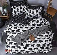Полуторное постельное белье Gold слоники