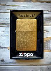 Зажигалка Zippo 207 REG GOLD DUST