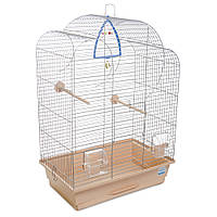 Клетка для птиц Природа Воля хром/бежевая 44*27*63