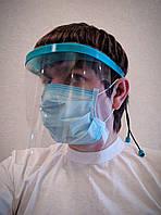 Защитный щиток для лица, защитный экран с 2 ПЕТ экранами Umax pro серии CFRC (оригинал). Лучший для врачей!!