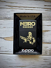 Зажигалка Zippo (original) BLACK MATTE 218