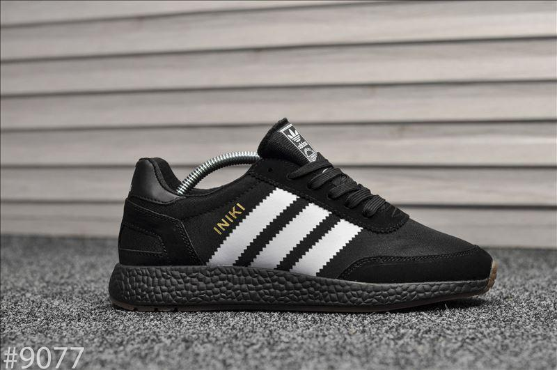 Мужские кроссовки Adidas Iniki Black (Адидас Иники черные)