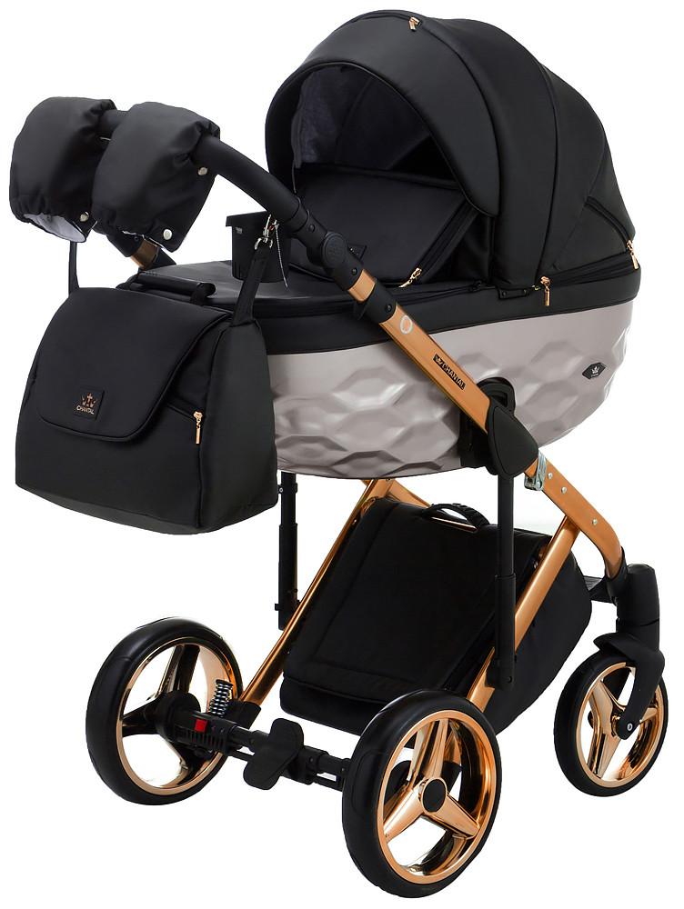 Дитяча коляска 2 в 1 Adamex Chantal Star  Polar Gold Pink 101 Ecco