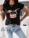 Женская футболка Нутелла  (2 цвета), фото 2