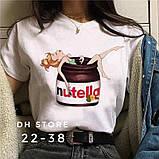 Женская футболка Нутелла  (2 цвета), фото 3