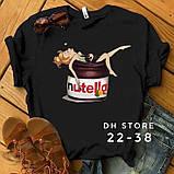 Женская футболка Нутелла  (2 цвета), фото 4