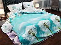 Красивое качественное постельное белье двуспальный размер, одуванчики небесные