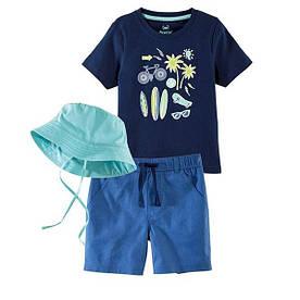 Летний набор (футболка, шорты, панамка) для мальчика Lupilu (Германия) р.98/104