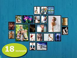 Мультирамка фотоколадж набор фото рамок 21шт