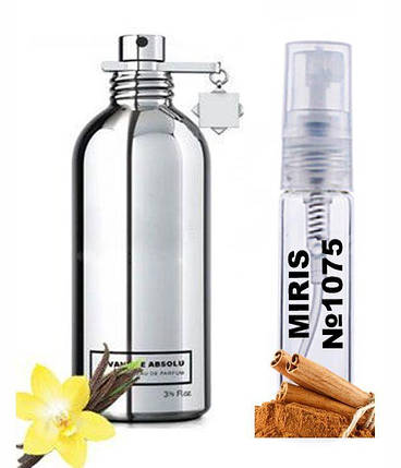 Пробник Духов MIRIS №1075 (аромат похож на Montale Vanille Absolu) Женский 3 ml, фото 2