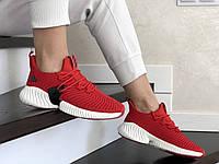 Женские кроссовки Adidas Alphabounce Instinct (адидас альфа боунс, демисезонные, красные)