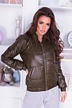 Куртка жіноча демісезонна, гірчиця, чорний, хакі, пудра, червоний, фото 9