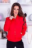 Куртка жіноча демісезонна, гірчиця, чорний, хакі, пудра, червоний, фото 6