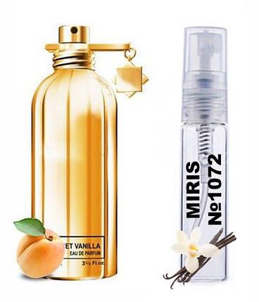 Пробник Духів MIRIS №1072 (аромат схожий на Montale Sweet Vanilla) Жіночий 3 ml, фото 2