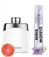 Пробник Духов MIRIS №26812 (аромат похож на MontBlanc Legend Spirit) Мужские 3 ml