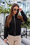 Куртка бомбер женский чёрный, красный, пудра, горчица, хаки, фото 8