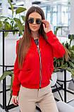 Куртка бомбер женский чёрный, красный, пудра, горчица, хаки, фото 5