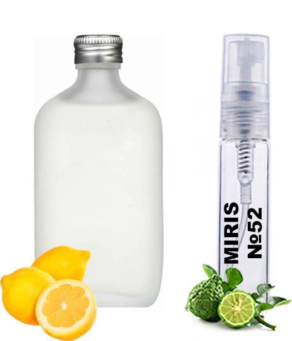 Пробник Духов MIRIS №52 (аромат похож на Calvin Klein CK One) Унисекс 3 ml
