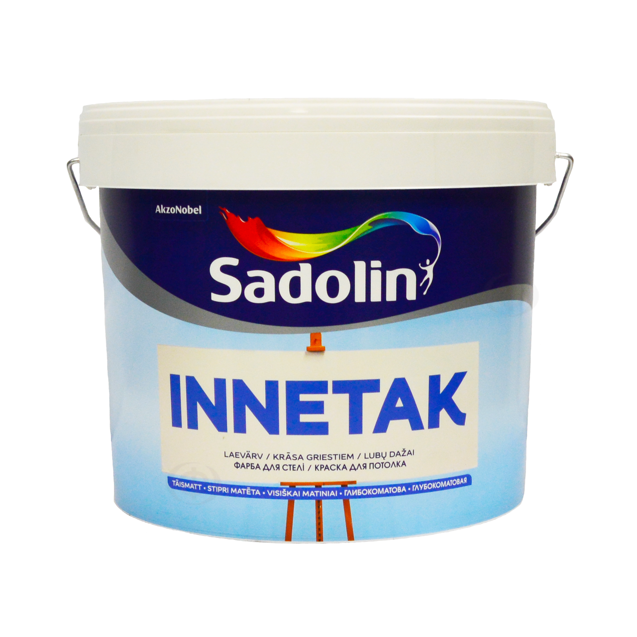 Краска Sadolin INNETAK - для потолка, белая, 10 л