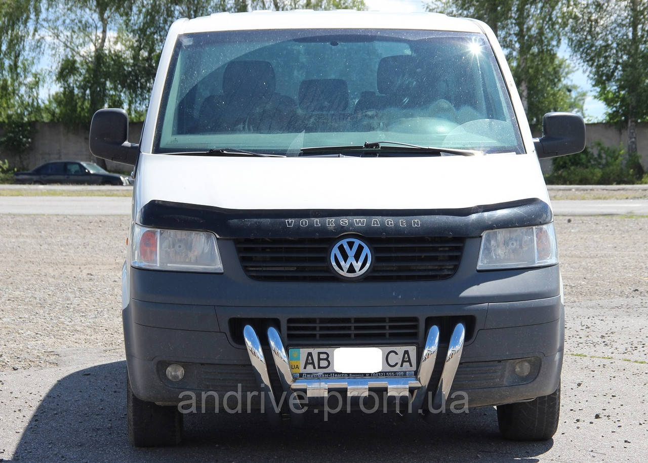 Защита переднего бампера (рога) Volkswagen T5 (Transporter) 2003-2009