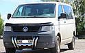 Защита переднего бампера (рога) Volkswagen T5 (Transporter) 2003-2009, фото 2