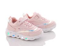 Кроссовки детские для девочек ТМ BBT 3209-3 Размеры 33 - 36 с подсветкой подошвы! Новинка 2020