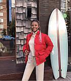 Куртка женская чёрная, красная, белая, бежевая, голубая, фреза, фото 7