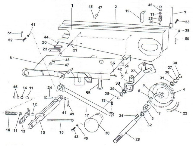 Главная рамакосилки роторной wirax z-169