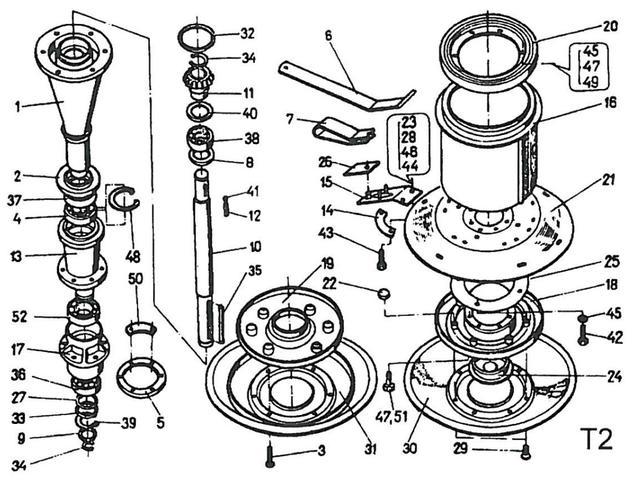 Режущий аппараткосилки роторной wirax z-169