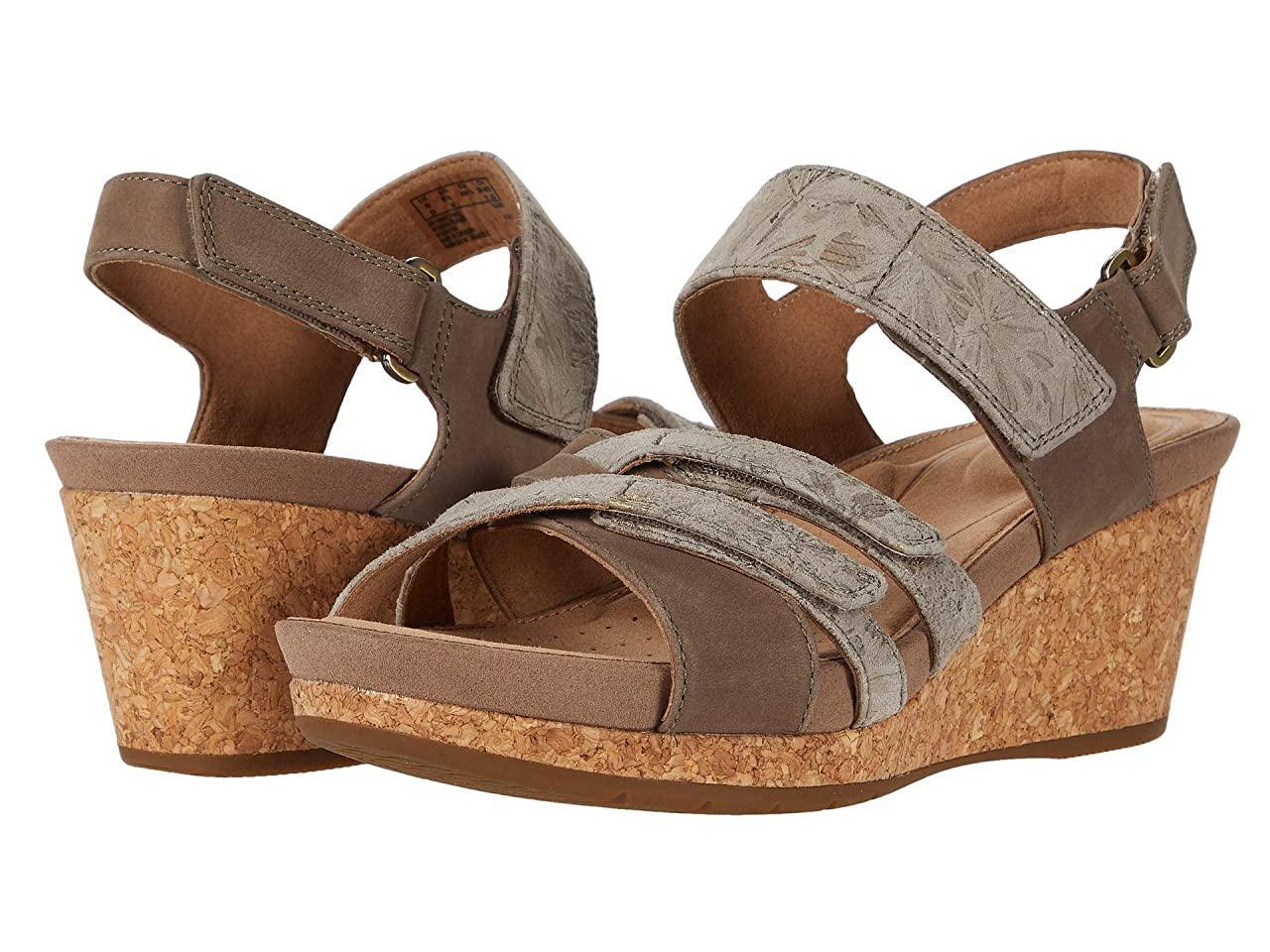Туфли на каблуке (Оригинал) Clarks Un Capri Walk Taupe Nubuck/Leather Combi