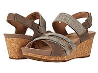 Туфли на каблуке (Оригинал) Clarks Un Capri Walk Taupe Nubuck/Leather Combi, фото 1
