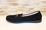 Туфлі жіночі чорні замшеві Т093, фото 2