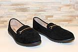 Туфли женские черные замшевые Т093, фото 3