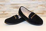 Туфлі жіночі чорні замшеві Т093, фото 4