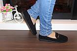 Туфли женские черные замшевые Т093, фото 6