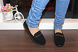 Туфли женские черные замшевые Т093, фото 8