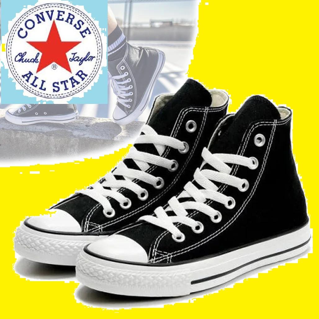 Кеды женские джинсовые в стиле Converse All Star (Конверсы) Черные на белой подошве, Разные цвета